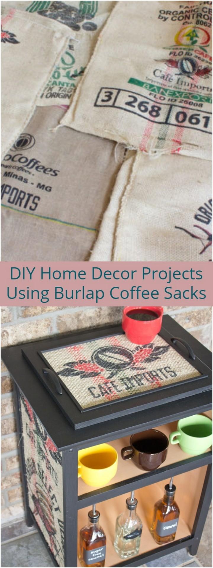 DIY Home Decor Projects Using Burlap Coffee Sacks 1