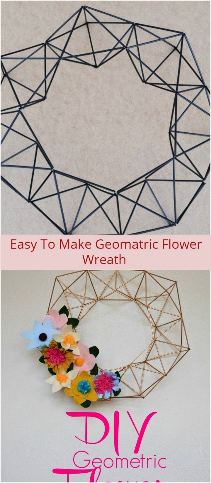 Easy To Make Geomatric Flower Wreath