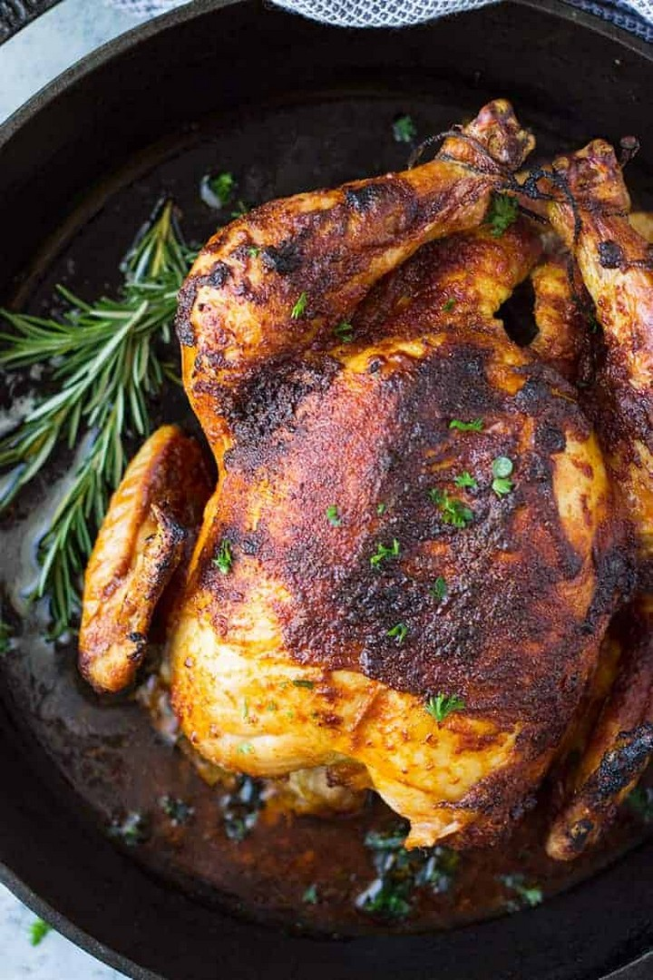 Homemade Oven Roasted Rotisserie Chicken