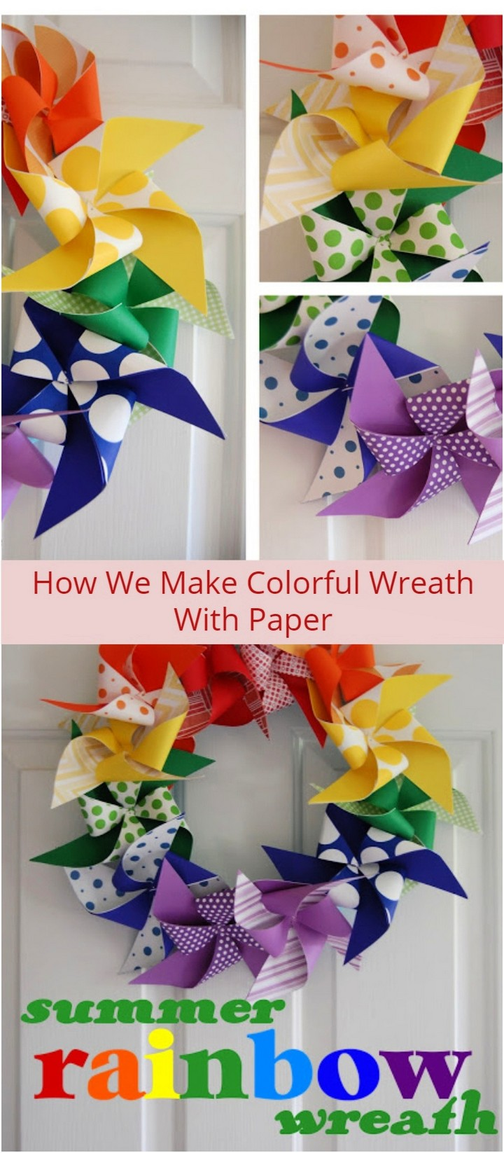 How We Make Colorful Wreath With Paper