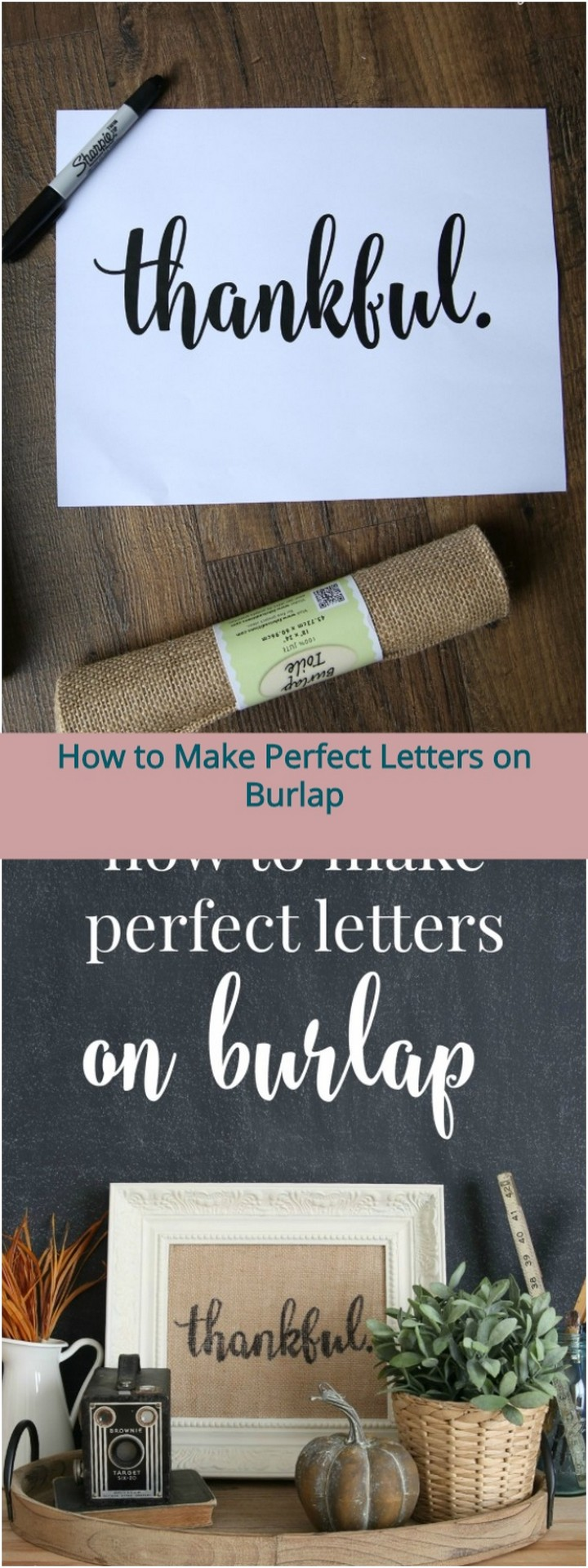 How to Make Perfect Letters on Burlap 1
