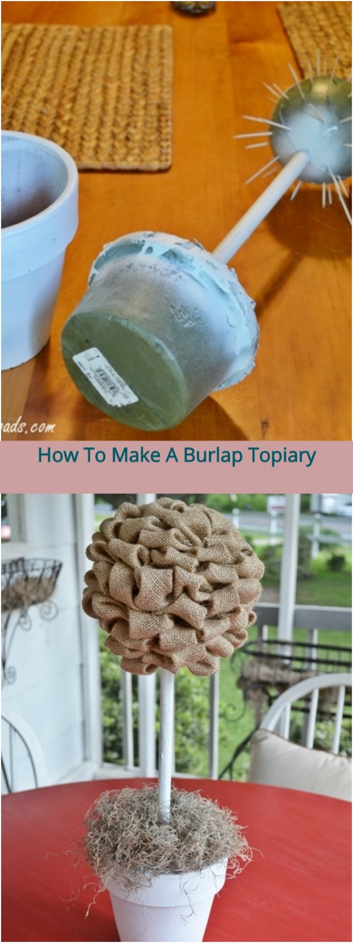 How to Make a Burlap Topiary 1