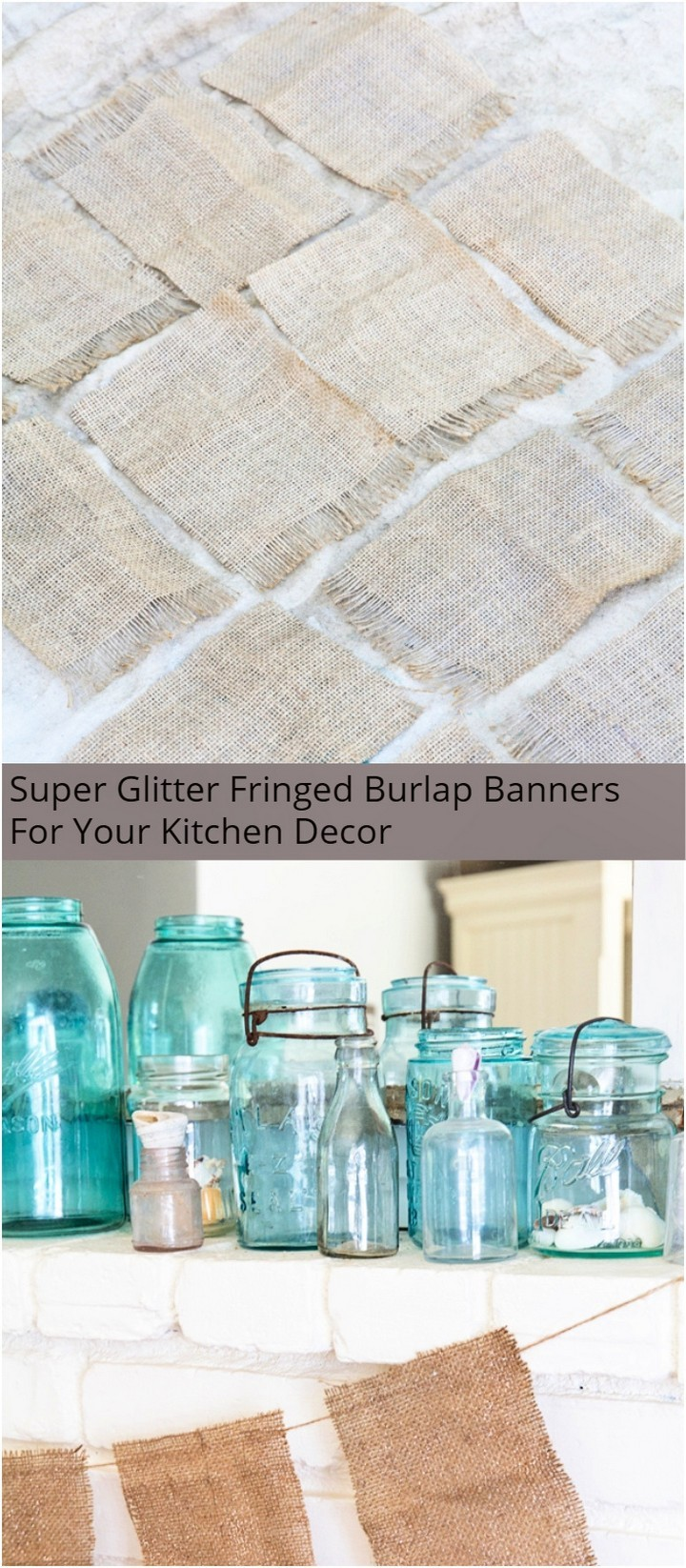 Super Glitter Fringed Burlap Banners For Your Kitchen Decor